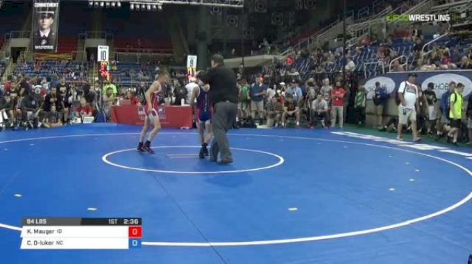 94 Quarter-Finals - Kase Mauger, Idaho vs Christian Decatur-luker, North Carolina