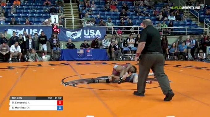 100 Quarter-Finals - Genae Sampract, Illinois vs Sofia Martinez, California
