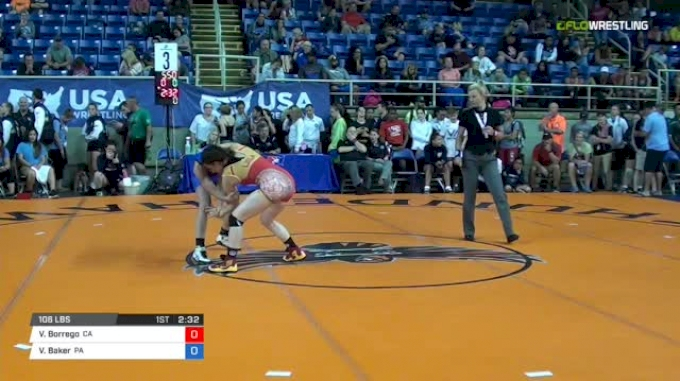 106 Quarter-Finals - Victoria Borrego, California vs Vayle Baker, Pennsylvania