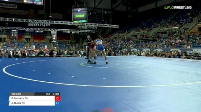 106 Quarter-Finals - Caden Mccrary, Georgia vs Jakason Burks, Nebraska
