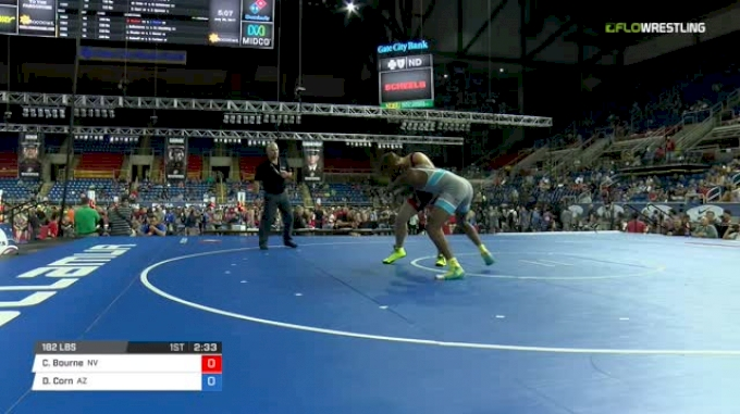 182 Quarter-Finals - Connor Bourne, Nevada vs Donovan Corn, Arizona