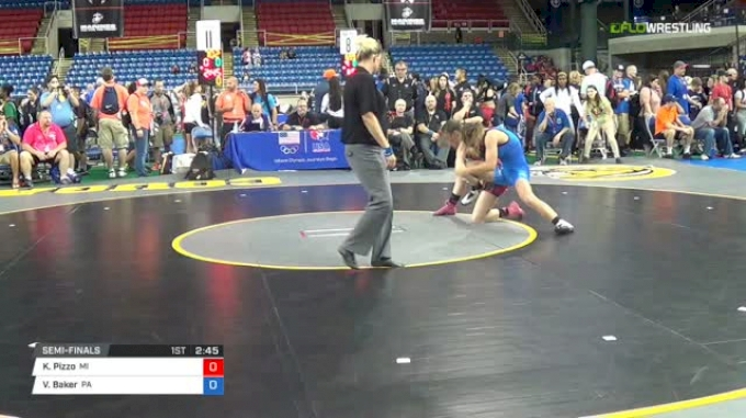 106 Semi-Finals - Katlyn Pizzo, Michigan vs Vayle Baker, Pennsylvania
