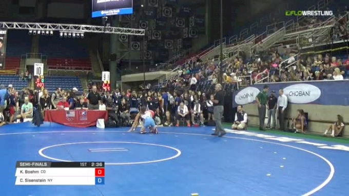 122 Semi-Finals - Kourtney Boehm, Colorado vs Cheyenne Sisenstein, New York