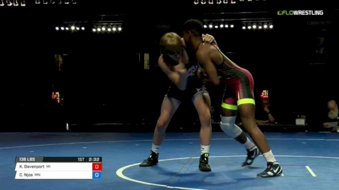 138 Finals - Kevon Davenport, Michigan vs Colby Njos, Minnesota