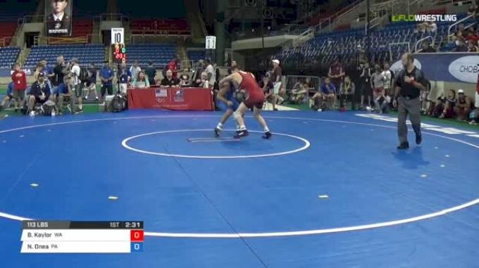 113 Semi-Finals - Brandon Kaylor, Washington vs Nick Onea, Pennsylvania