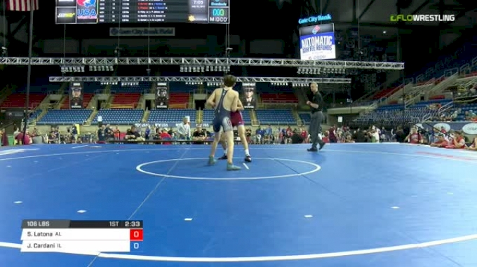 106 Semi-Finals - Samuel Latona, Alabama vs Justin Cardani, Illinois