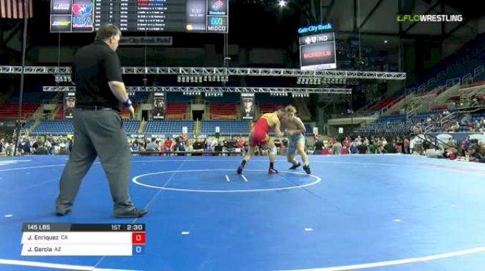 145 Semi-Finals - Jaden Enriquez, California vs Jacob Garcia, Arizona