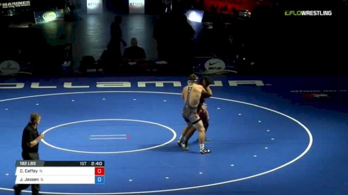 182 Finals - Cameron Caffey, Illinois vs Jack Jessen, Illinois