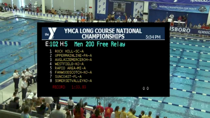 2017 YMCA LC Nationals | Boys 200 Freestyle Relay Heat 5