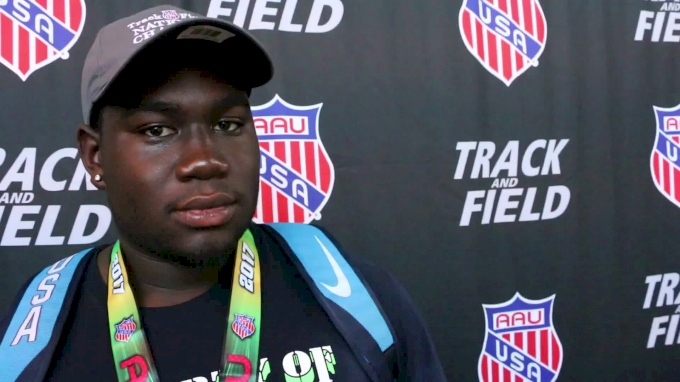 Gabriel Oladipo Jr came back from Pan Ams disappointment to shatter AAU shot put record