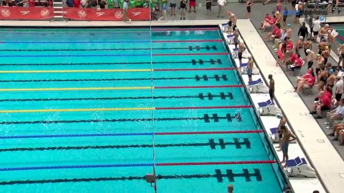 2017 NCSA Summer Champs   Men 100m Backstroke D-Final