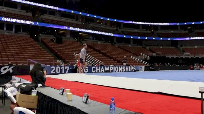Eddie Penev Hits Double Double, Triple Twist - 2017 P&G Championships Podium Training