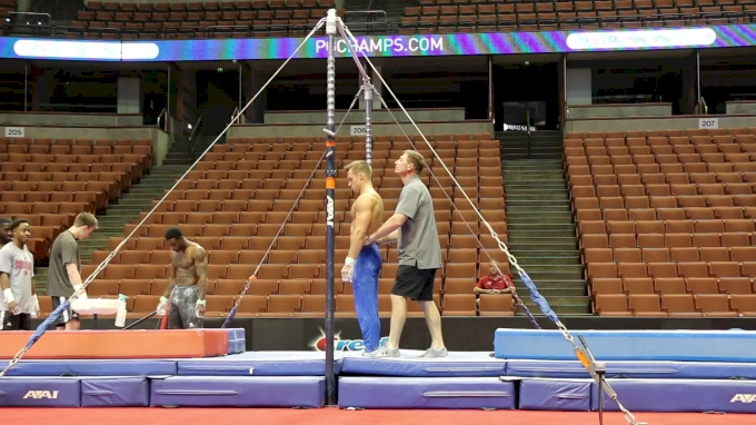 Sam Mikulak Goes Big On High Bar - 2017 P&G Championships Podium Training