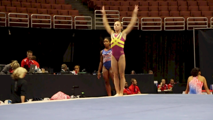 Ragan Smith Shows New Floor Routine - 2017 P&G Championships Podium Training