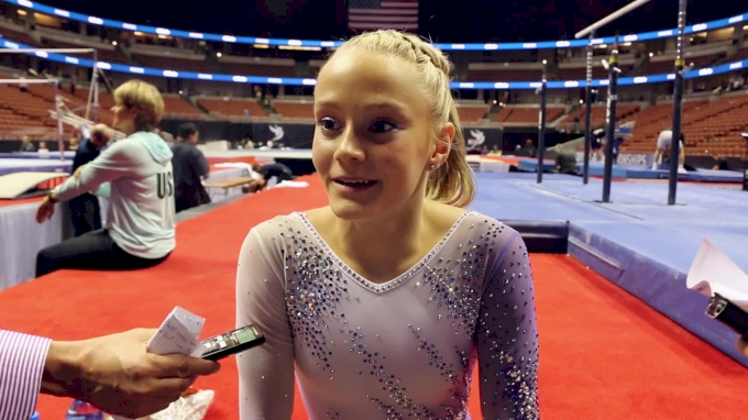 Riley McCusker On Winning Bars & Pretty P&Gs Leos - 2017 P&G Championships Women Day 2