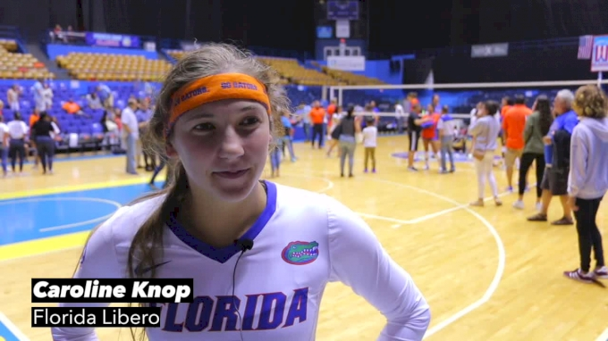 Libero Caroline Knop Dishes On Florida's Game Plan Versus North Carolina