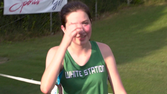 Kathryn Haynes takes third in girl's jv 5k