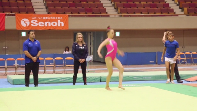 Maile O'Keefe, Floor Routine - Training Day 1, 2017 International Junior Japan