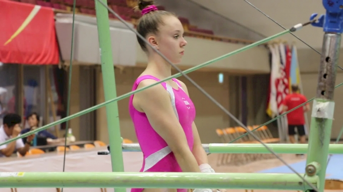 Maile O'Keefe, Bar Routine - Training Day 1, 2017 International Junior Japan