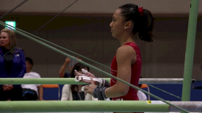 Emma Malabuyo Bars First Half - Training Day 2, 2017 International Junior Japan