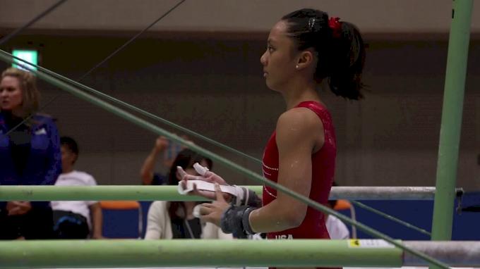 Emma Malabuyo Bars First Half - Training Day 2, 2017 International Junior Japan