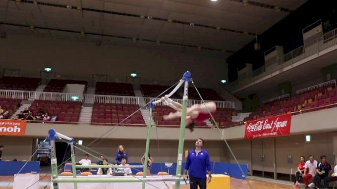 Maile O'Keefe High Bar Sequence - Training Day 2, 2017 International Junior Japan