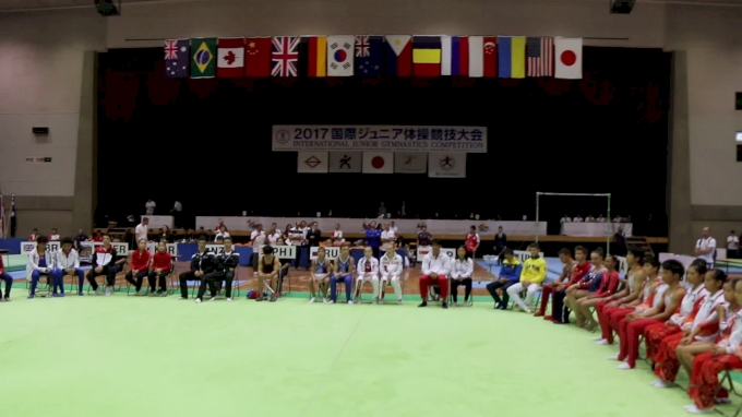 Beam Event Finals Award Ceremony - 2017 International Junior Japan
