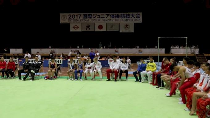 Floor Event Finals Award Ceremony - 2017 International Junior Japan