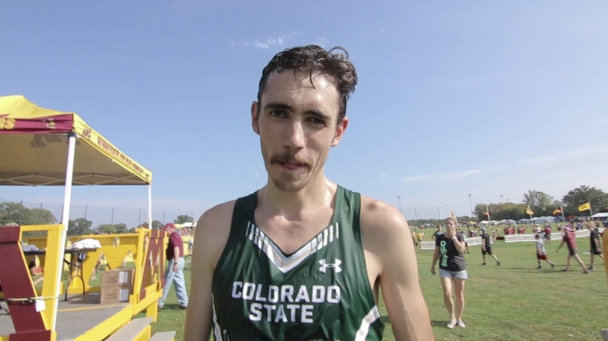 Jerrell Mock after a repeat individual title at Roy Griak