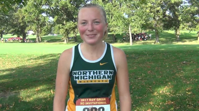 Katelyn Smith after competitive performance in Roy Griak D2 race