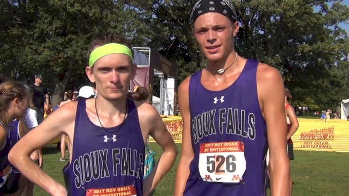 Sioux Falls Mason Phillips and Stevon Brown after 1-2 finish at Roy Griak