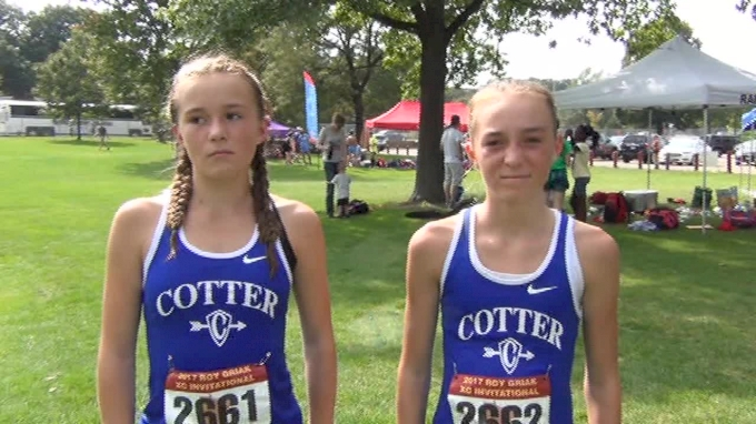 Sisters Grace and Lauren Ping after solid performances at Roy Griak