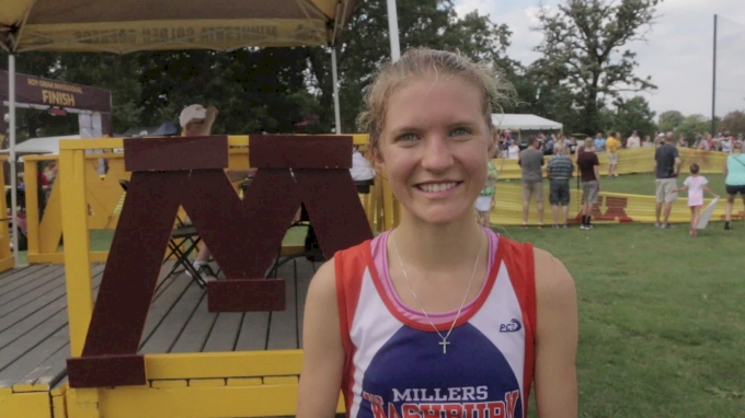 Emily Covert after breakthrough victory at Roy Griak
