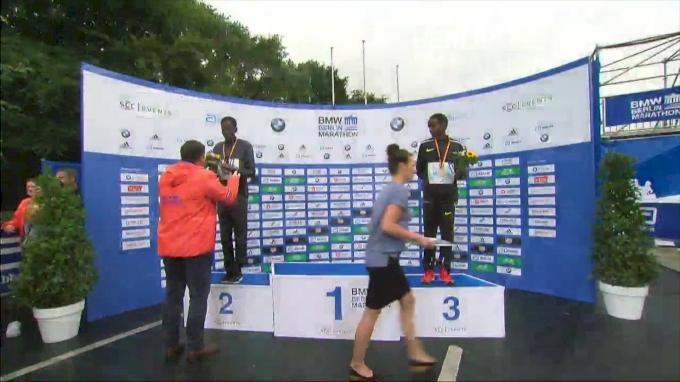 2017 Berlin Marathon Elite Men's Award Ceremony