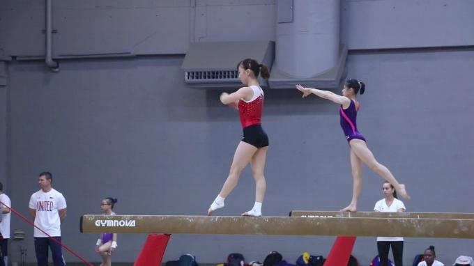 Asuka Teramoto (JPN) Training Beam - Training Day 1, 2017 World Championships