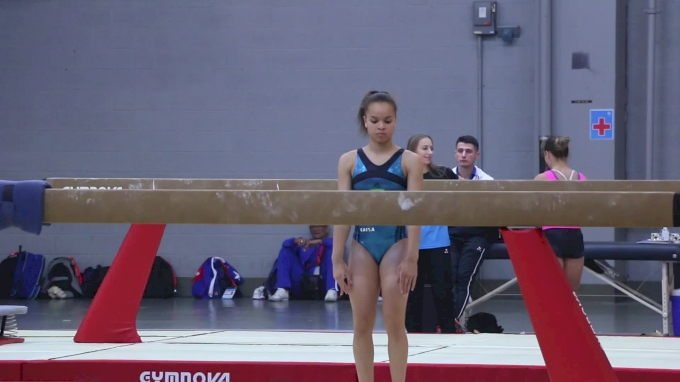Thais Fidelis (BRA) Beam Routine With Arabian Series And Timer Dismount - Training Day 1, 2017 World Championships