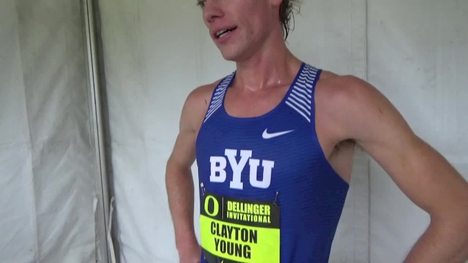 Clayton Young after winning the men's race