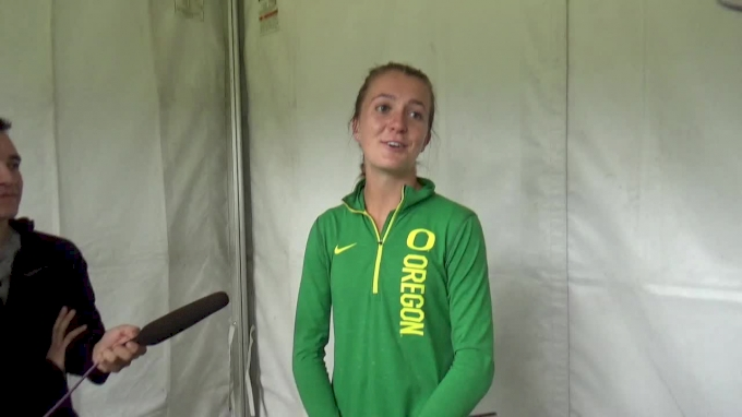 Katie Rainsberger after new Dellinger Course Record
