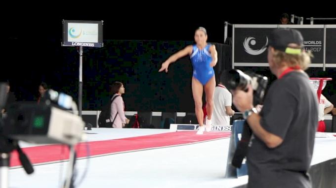 Oksana Chusovitina - Vault, Uzbekistan - Official Podium Training - 2017 World Championships