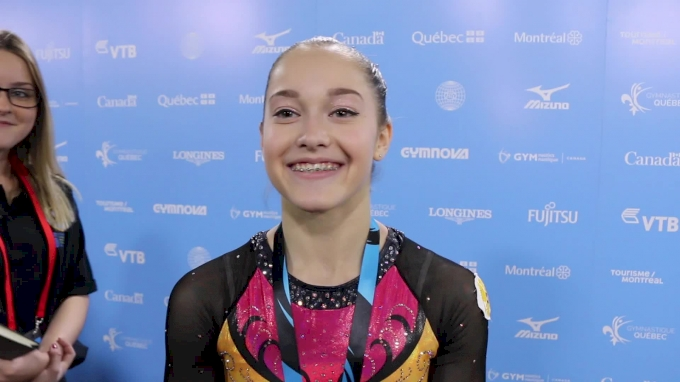 Elena Eremina (RUS) Happy About Bronze With Mistake On Bars, Wishes Ragan Well - Women's AA Final, 2017 World Championships