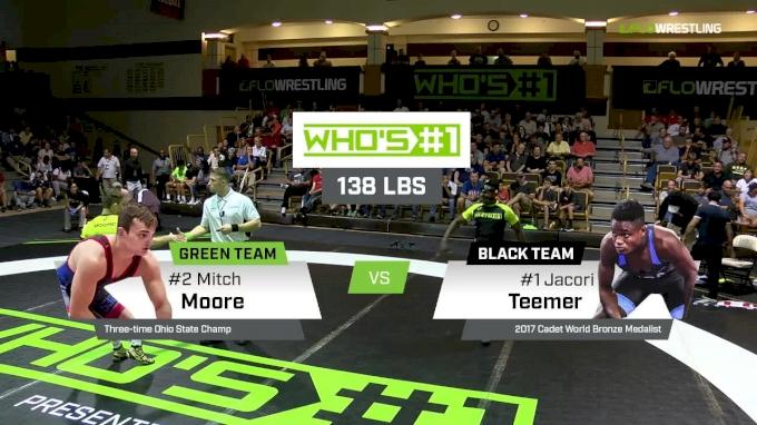 138 lbs Jacori Teemer, Black vs Mitch Moore, Green
