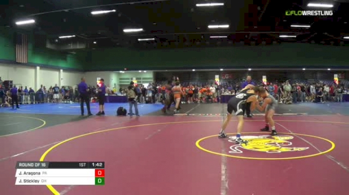 138 Round of 16 - Jojo Aragona, Pa vs Jd Stickley, Oh