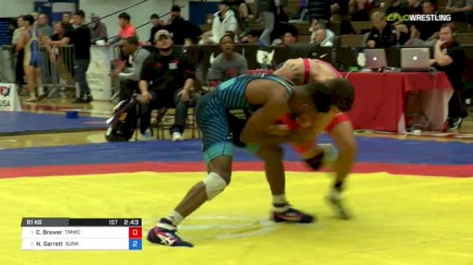 61 Semi-Finals - Cody Brewer, TMWC vs Nahshon Garrett, Sunkist Kids Wrestling Club