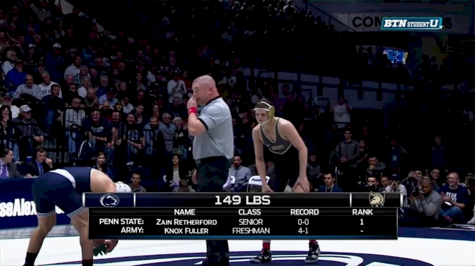 149 lbs Zain Retherford, PSU vs Knox Fuller, ARMY