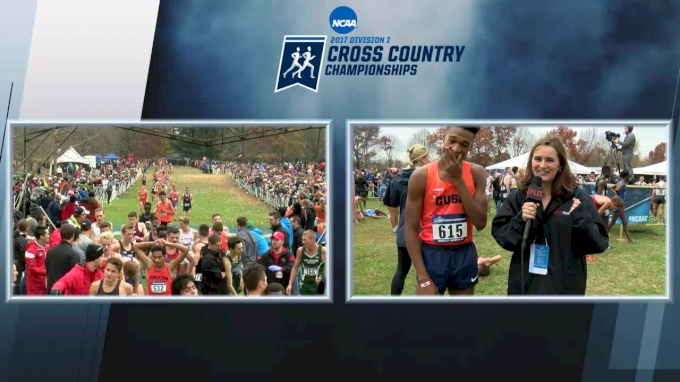 Live post-race interview with NCAA Champ Justyn Knight