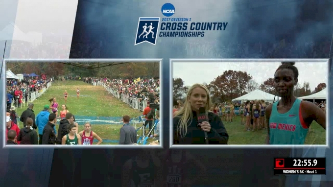 Live post-race interview with NCAA Champions New Mexico Women