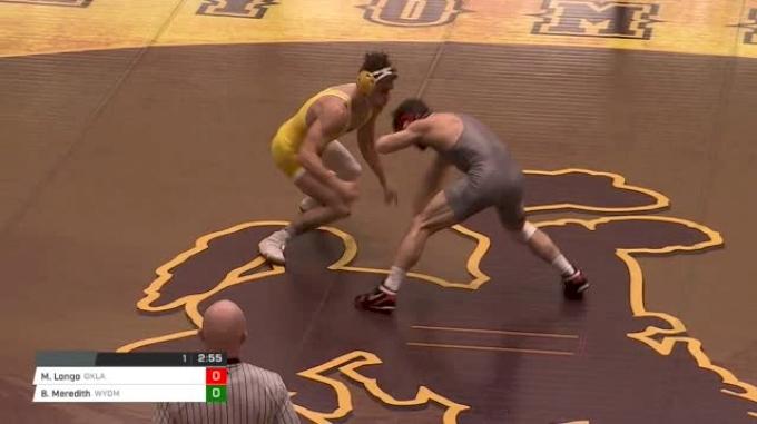 141 lbs Mike Longo, Oklahoma vs Bryce Meredith, Wyoming