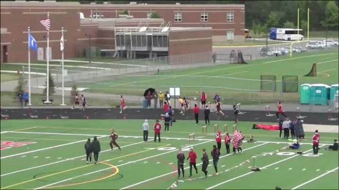 High School Men's 300m Hurdles Aa, Finals 3