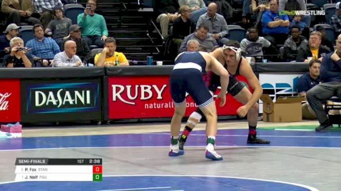 157 lbs Semifinal - Paul Fox, Stanford vs Jason Nolf, Penn State
