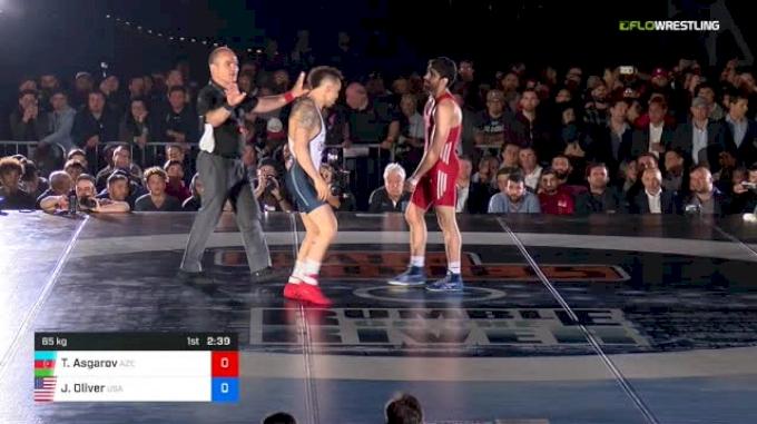 65 kg Rr Rnd 1 - Togrul Asgarov, Azerbaijan vs Jordan Oliver, USA
